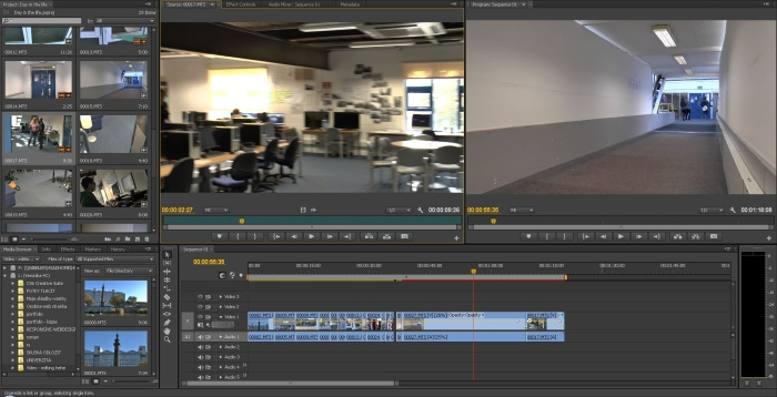 Screenshot of our editing