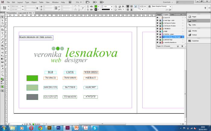 screenshot - designing presentation for logo