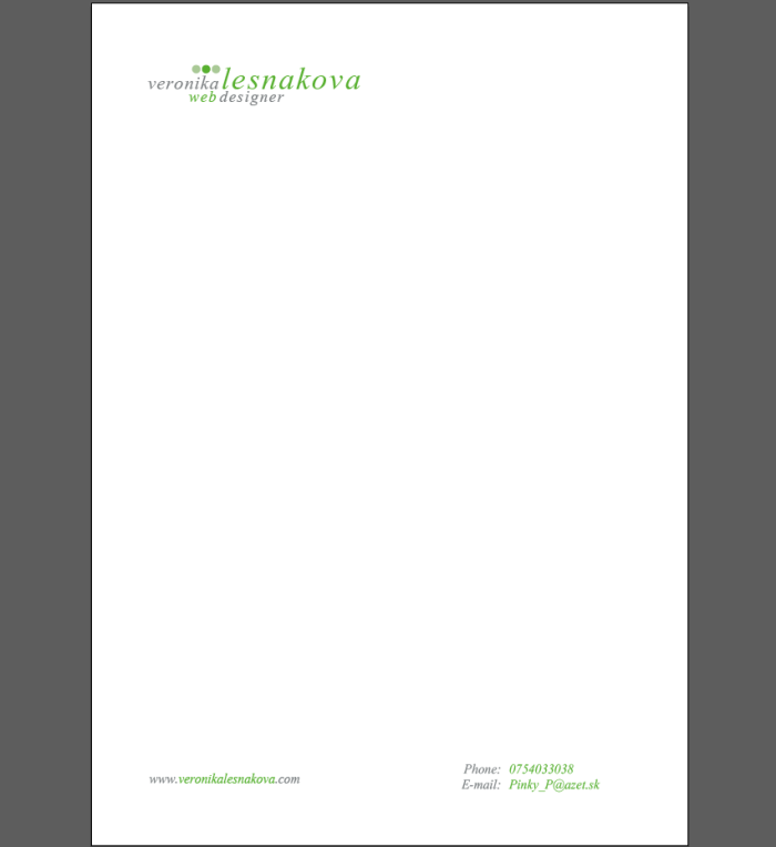 screenshot of letterhead