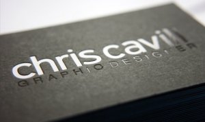 Textured business card paper