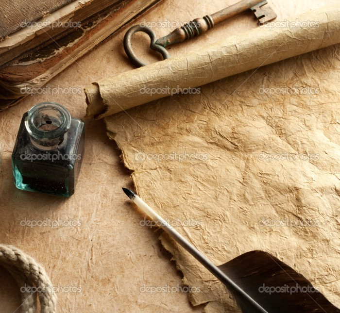 depositphotos_12611483-Inkwell-and-quill-on-vintage-paper-background